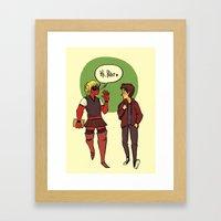 Hi, Peter Framed Art Print