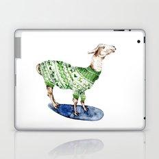 Llama in a Green Deer Sweater Laptop & iPad Skin