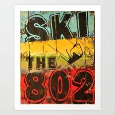 Ski the 802 Art Print