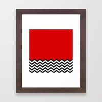 Black Lodge Dreams (Twin… Framed Art Print