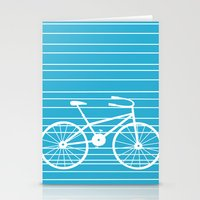 Blue Bike by Friztin Stationery Cards