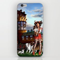 Gothic Lolita in the Shoe with Dogs iPhone & iPod Skin
