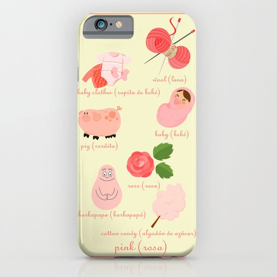 Colors: pink (Los colores: rosa) iPhone & iPod Case