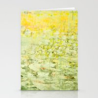 yellow greens Stationery Cards