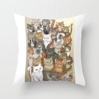 1000 Cats Throw Pillow
