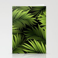 Tropical Frond Pattern Stationery Cards