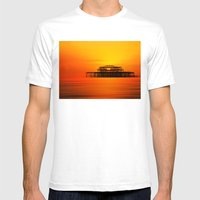Brighton West Pier At Su… Mens Fitted Tee White SMALL