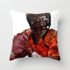Peyton Manning zombie Throw Pillow