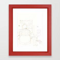 Composition of a composer Framed Art Print