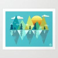 the Clarion Lake Art Print