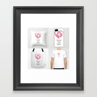 Hold Me Tight Products Framed Art Print