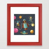 Space Scavengers Framed Art Print