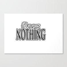 Rue Nothing Original Logo White and Black 2 Canvas Print