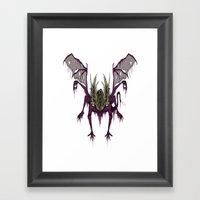 Gaping Dragon (Dark Soul… Framed Art Print