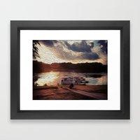 Oily Pontoons Framed Art Print