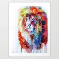 Art Print featuring Lion by Slaveika Aladjova