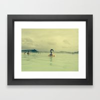 Public Bathing Framed Art Print