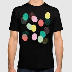 Easter Eggs SMALL Black Mens Fitted Tee