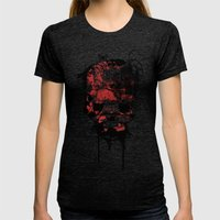 punished Womens Fitted Tee Tri-Black SMALL