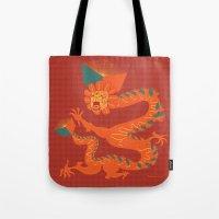 Dragon Quetzalcoatl Tote Bag