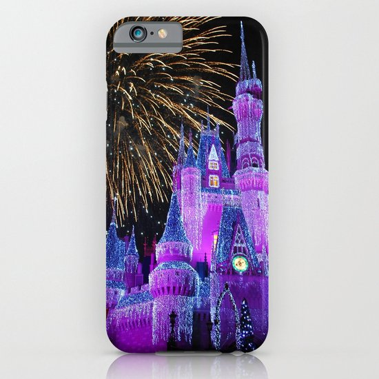 Disney Magic Kingdom Fireworks at Christmas - Cinderella Castle iPhone & iPod Case