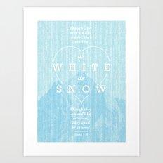 as white as snow Art Print
