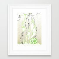 Nature grabs Framed Art Print