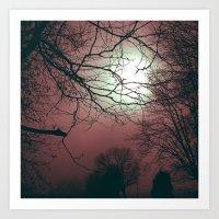 Day Moon Art Print
