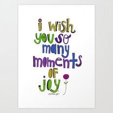 Moments of Joy. Art Print