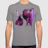 Two Hearts Mens Fitted Tee Tri-Grey SMALL