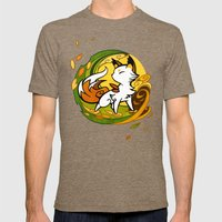 Autumn Fox Mens Fitted Tee Tri-Coffee SMALL