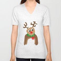 Santa's Reindeer Unisex V-Neck