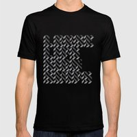 loose lips sink ships dazzle typography Mens Fitted Tee Black SMALL