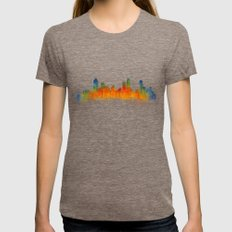 Atlanta City Skyline Hq … Womens Fitted Tee Tri-Coffee SMALL