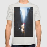 The Narrows Mens Fitted Tee Silver SMALL