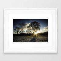 A Winters Sunset Framed Art Print