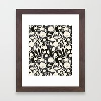 Black And White Floral 0… Framed Art Print