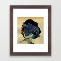 parallax_notebook_ Framed Art Print