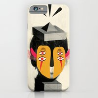 iPhone & iPod Case featuring 4 eyes + psychedelic collage by Catalin Anastase