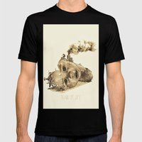 train of life Mens Fitted Tee Black SMALL