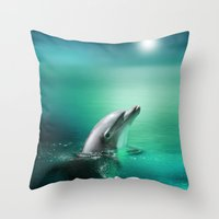 Dolphin Delights Throw Pillow