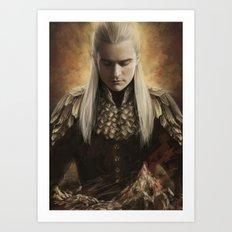 Legolas Desolation of Smaug Art Print