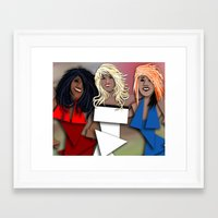 Cubist OMG Framed Art Print