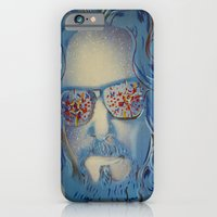 iPhone & iPod Case featuring Blue Dude : The Big Lebowski  by Christopher Chouinard