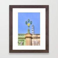 Westminster Bridge And T… Framed Art Print