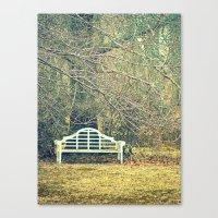 Winter Bench Canvas Print