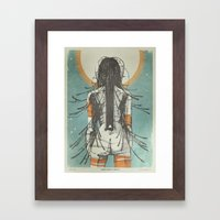 Nymph: Staring At The Su… Framed Art Print