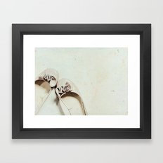 Walk in these shoes Framed Art Print