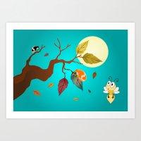 Fall Down  Art Print