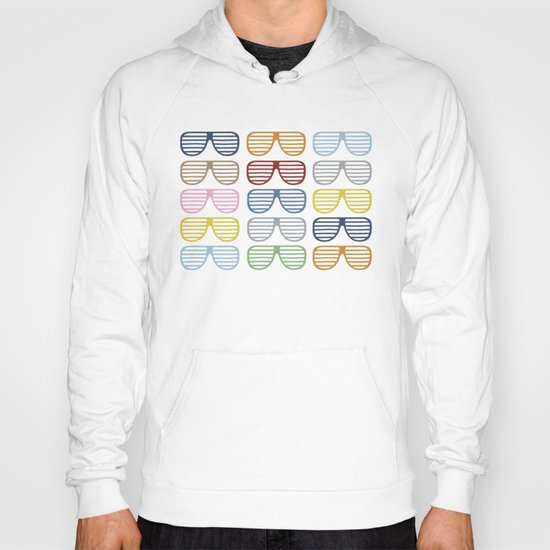 Rainbow Shutter Shades at Night Hoody